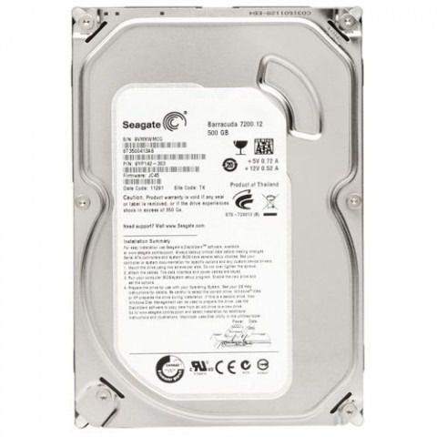 Hard Disk Sata III 500GB 7200rpm 3,5 ST3500413AS  - Seagate