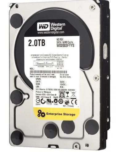 HD 2TB 7200RPM Sata III 3,5 RE Enterprise WD2000FYYZ (Importado) - Western Digital