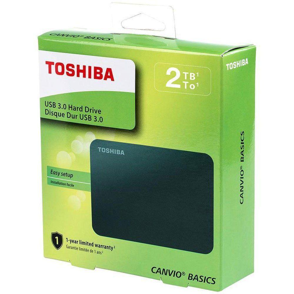HD Externo Canvio Basic USB 3.0 2TB Preto HDTB420XK3AA - Toshiba