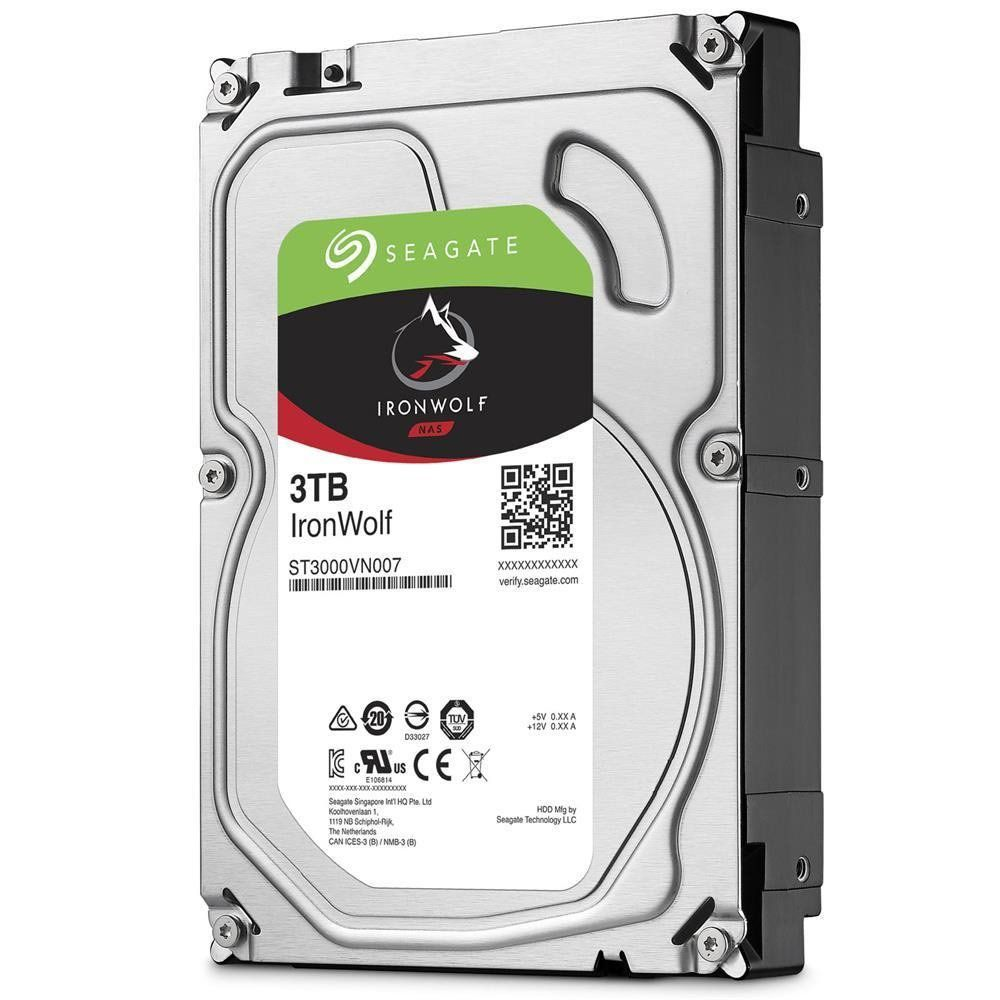 HD 3TB NAS IronWolf 5900RPM 64MB Cache SATA 6.0Gb/s ST3000VN007 - Seagate