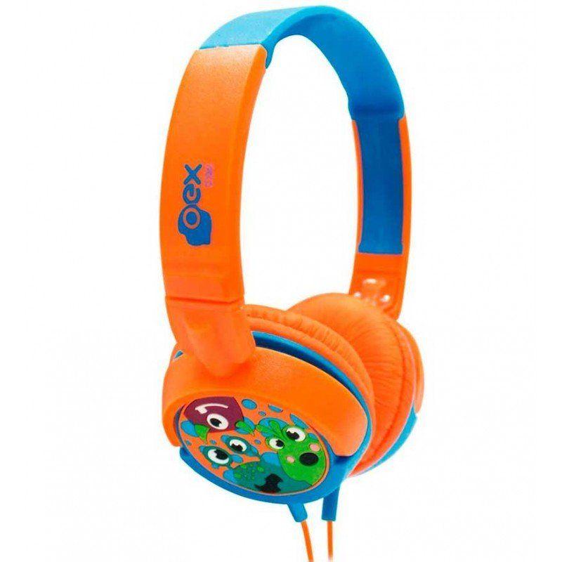 Headphone Boo Kids Limitada Dobrável Potência HP301 - OEX