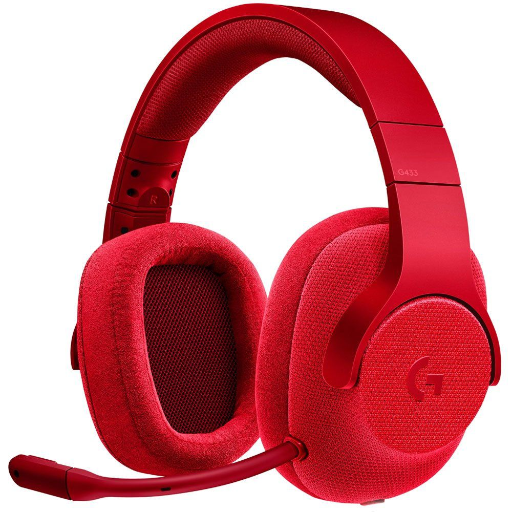 Headset Gamer G433 7.1 Surround Drivers Pro-G Vermelho - Logitech