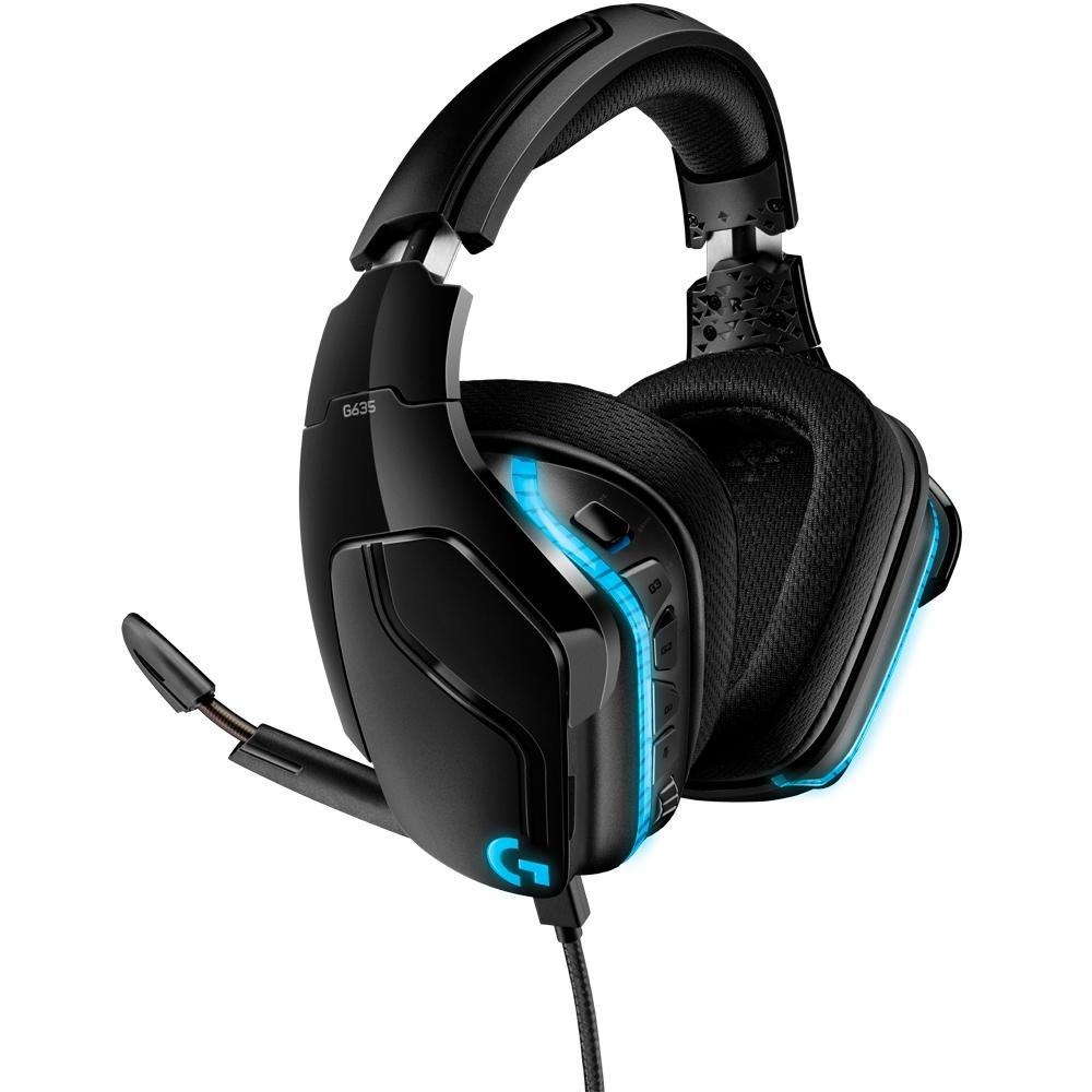 Headset Gamer G635, RGB, Som Surround 7.1, Drivers Pro-G de 50mm - Logitech