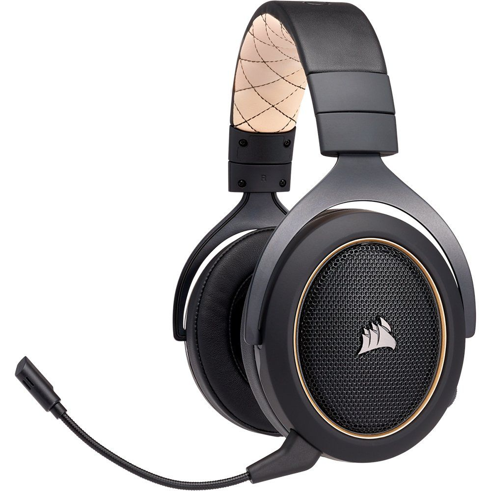 Headset Gamer HS70 Wireless Carbono, 7.1 Surround, Gold CA-9011178-NA - Corsair