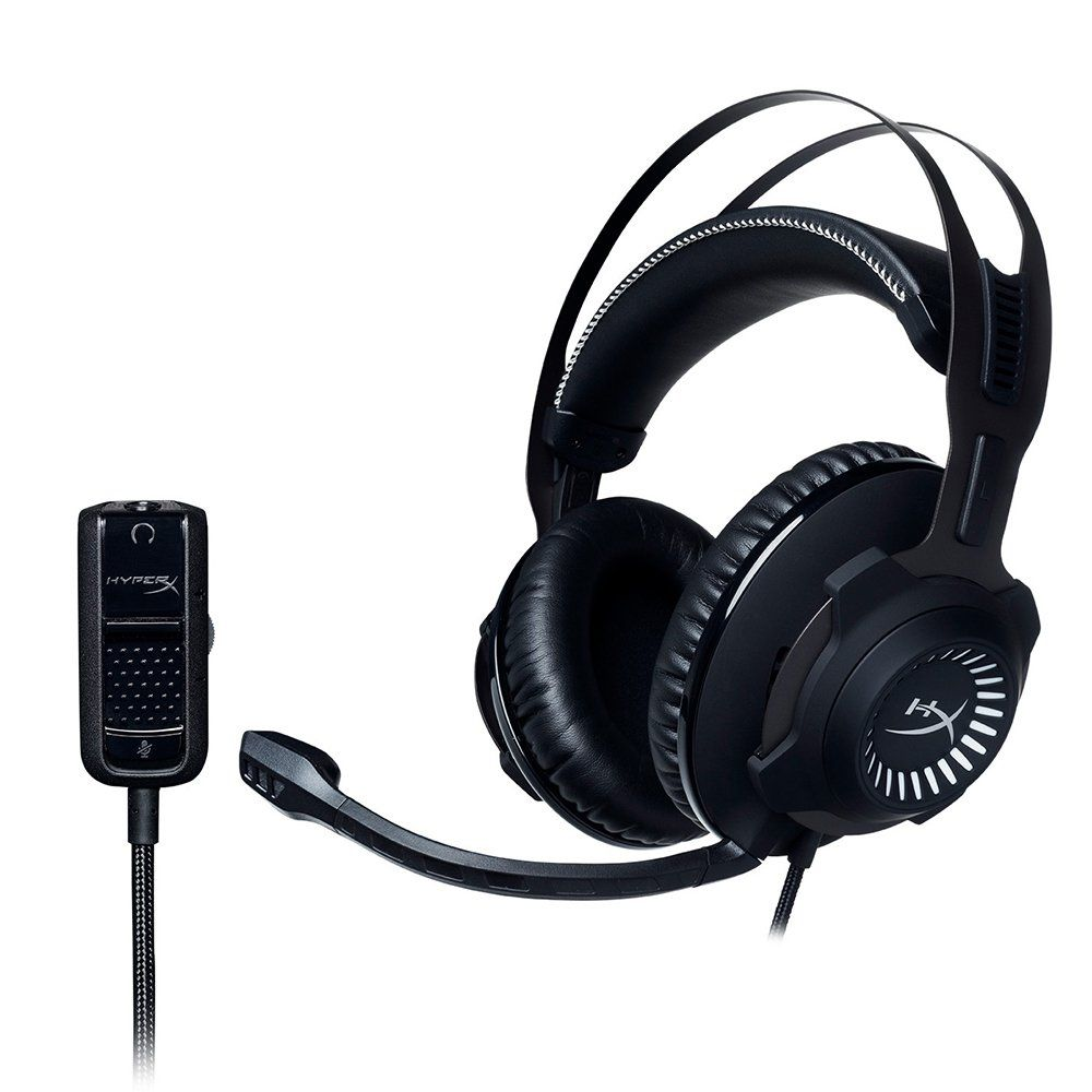Headset Gamer HyperX Cloud Revolver - HX-HSCR-GM Preto/Cinza - Kingston