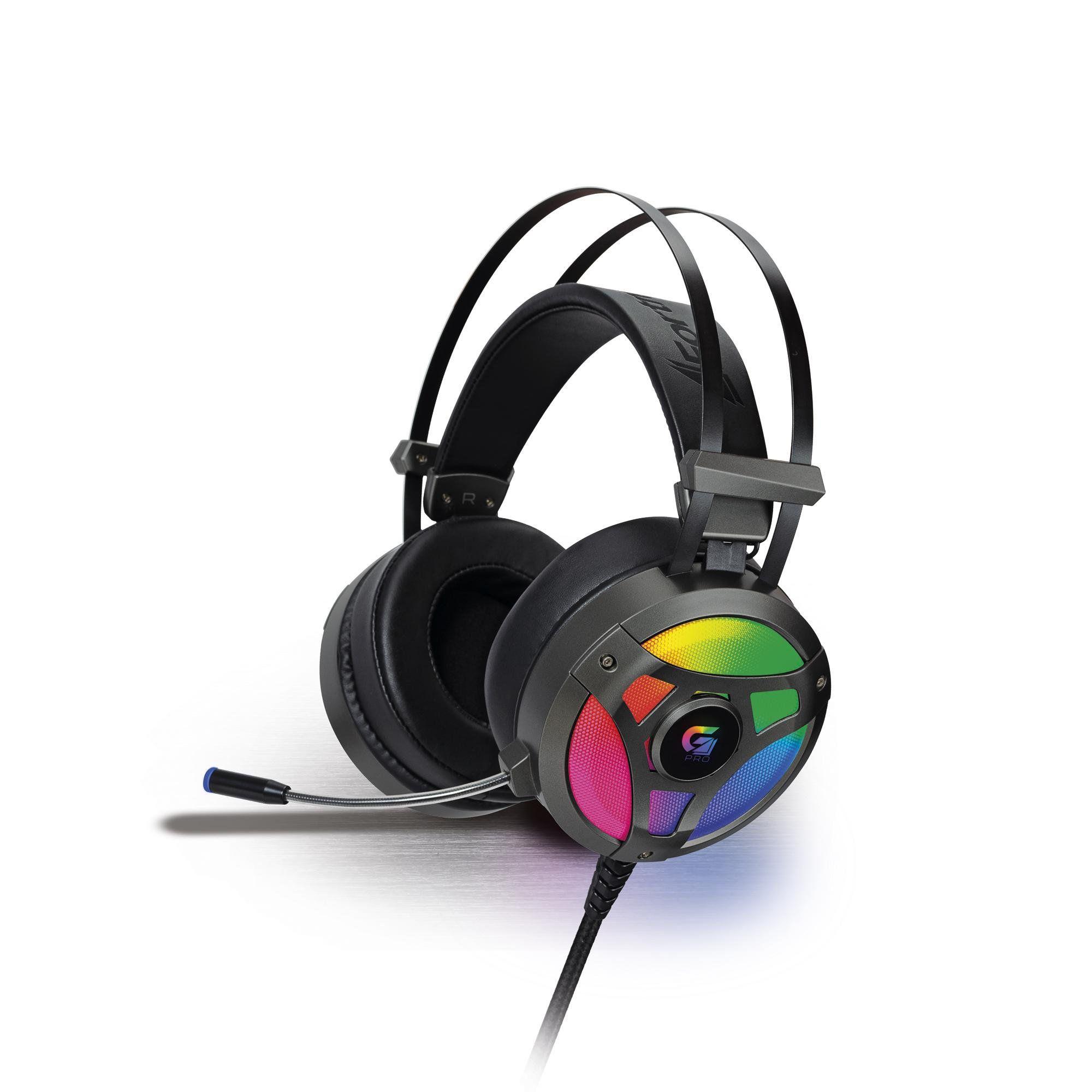 Headset Gamer RGB G Pro H1+ 7.1 Cinza 65905 Fortrek