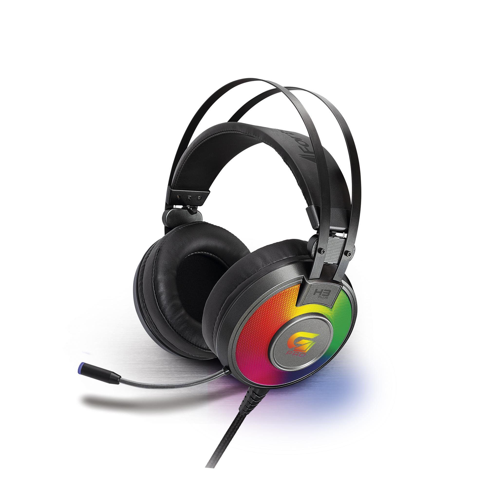 Headset Gamer RGB G Pro H3+ 7.1 Cinza 65907 - Fortrek