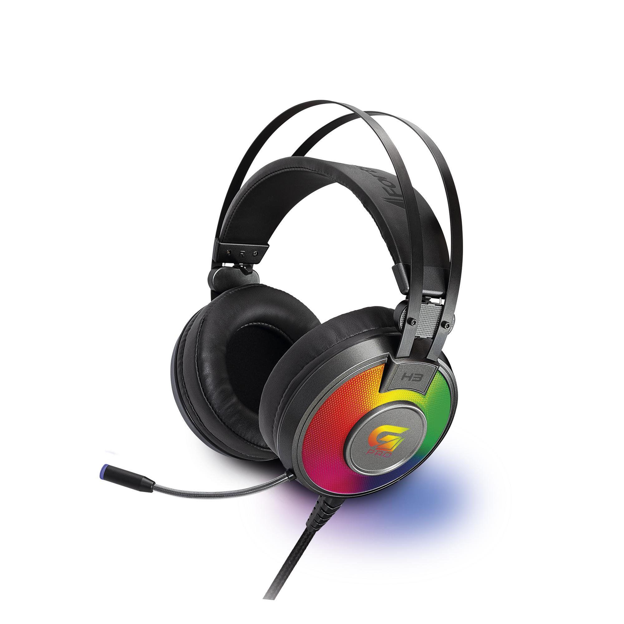 Headset Gamer RGB G Pro H3 Cinza 65906 - FORTREK