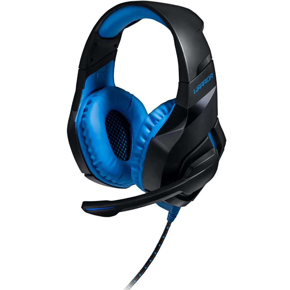 Headset Gamer Warrior 2.0 com LED USB Preto e Azul PH244 - Multilaser