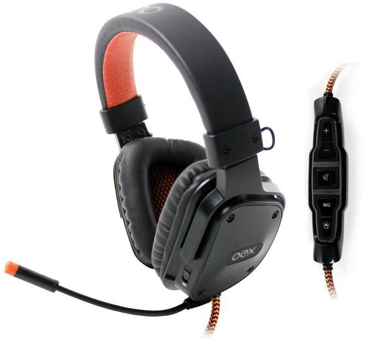 Headset Shield Preto Virtual Surround 7.1 Controle Multifuncional HS409 - OEX