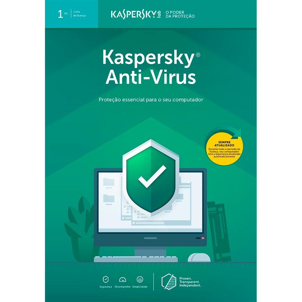 Kaspersky Antivírus 2019 para 01 PC  (Digital para Download)
