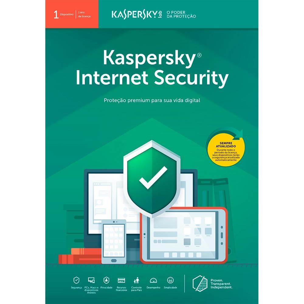 Kaspersky Internet Security 2019 Multidispositivos para 01 PC (Digital para Download)