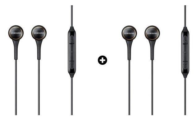 Kit com 02 unidades do Fone de Ouvido EO-IG935B, Preto c/ Fio e Controle de Volume p/ Android 4.0 ou Superior - Samsung