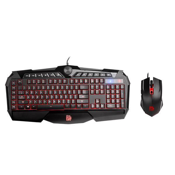 Kit Teclado + Mouse TT Esports Challenger Prime Combo KB-CPC-MBBRPB-01 - Thermaltake