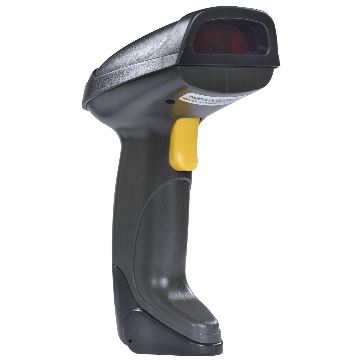 Leitor de Código de Barras Laser Sem Fio WCB100 3 em 1 com Leitura Automática (Boletos, NF e Códigos de Barras) 26498 - Vinik