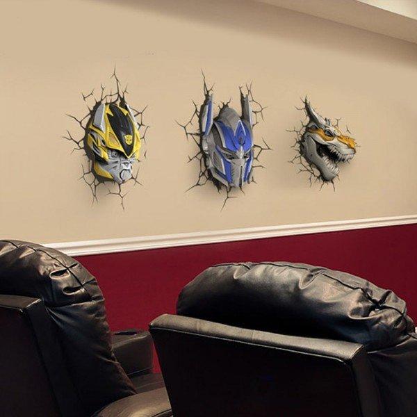 Luminária 3D Light FX Transformers Grimlock
