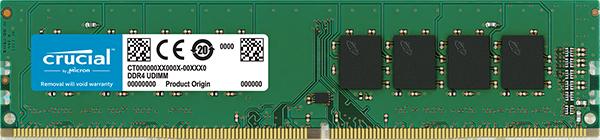 Memória 16GB DDR4 2400MHz 1.2V CL19 CT16G4DFD8266 - Crucial