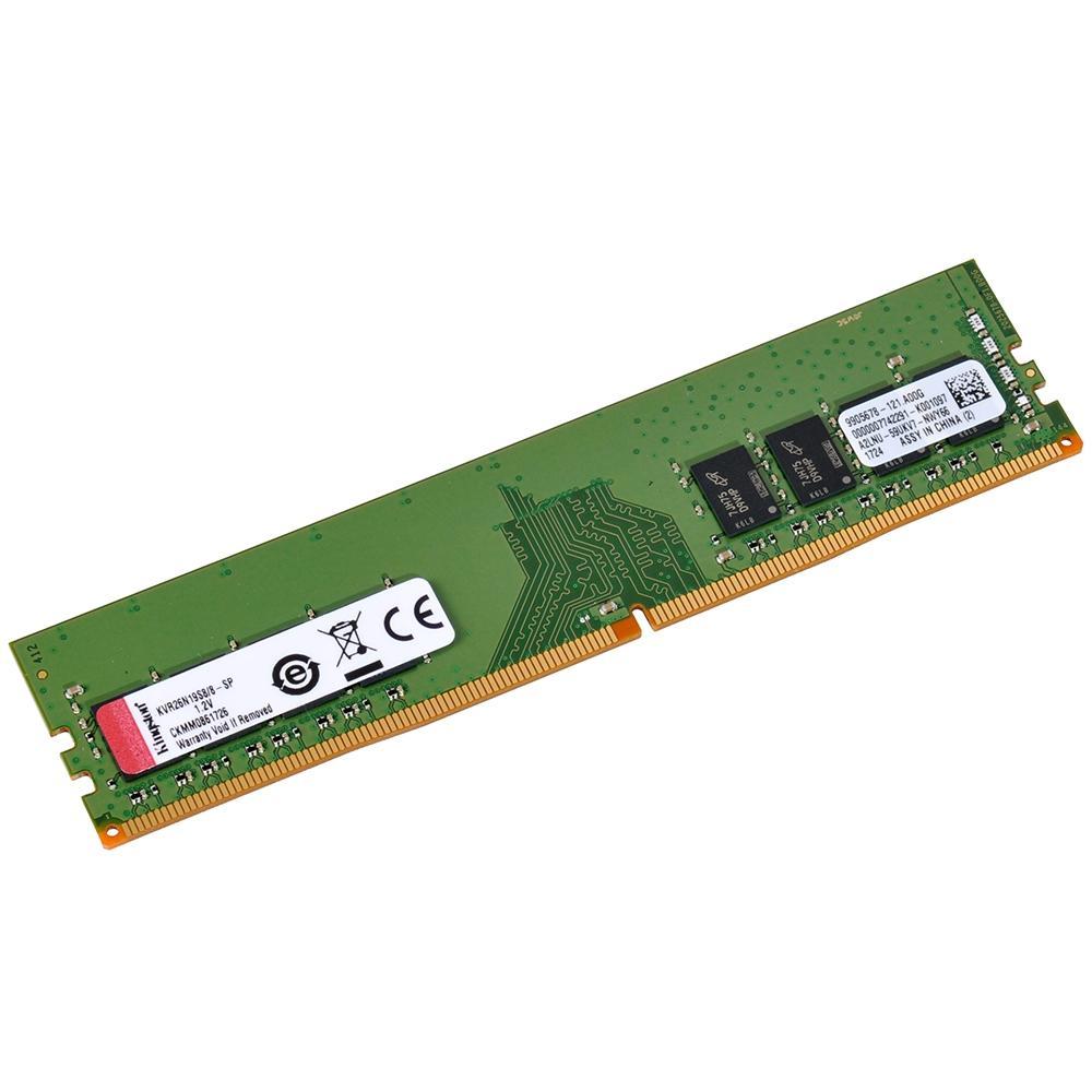 Memória 8GB 2666MHz, DDR4, CL19 KVR26N19S8/8 - Kingston