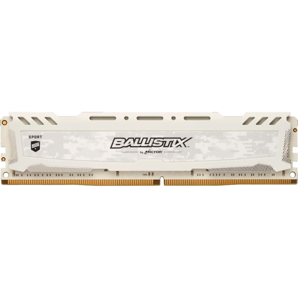 Memória 8GB DDR4 3000Mhz Ballistix Sport LT CL15 Branco BLS8G4D30AESCK - Crucial