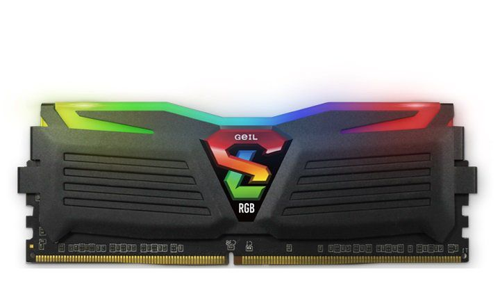 Memória de 16GB DDR4 RGB SYNC 3000Mhz Super Luce GLS416GB3000C16ASC - Geil