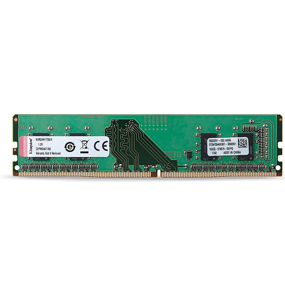 Memória de 4GB DDR4 2400Mhz CL17 KVR24N17S6/4 - Kingston