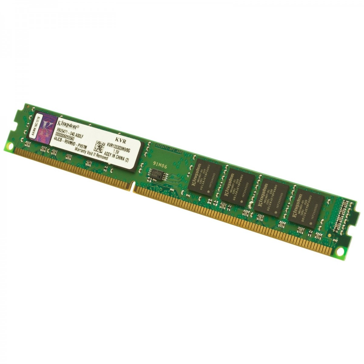 Memória de 8GB DDR3 1333Mhz 10600 CL9 KVR1333D3N9/8G - Kingston