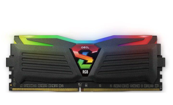 Memória de 8GB DDR4 RGB SYNC 3000Mhz Super Luce GLS48GB3000C16ASC - Geil