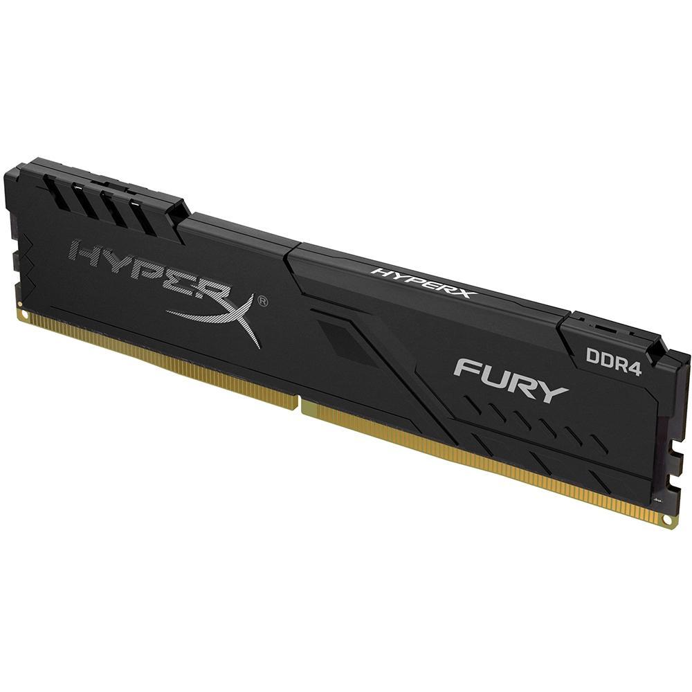 Memória HyperX Fury 8GB 2666MHz DDR4 CL16 Preto HX426C16FB3/8 - KINGSTON