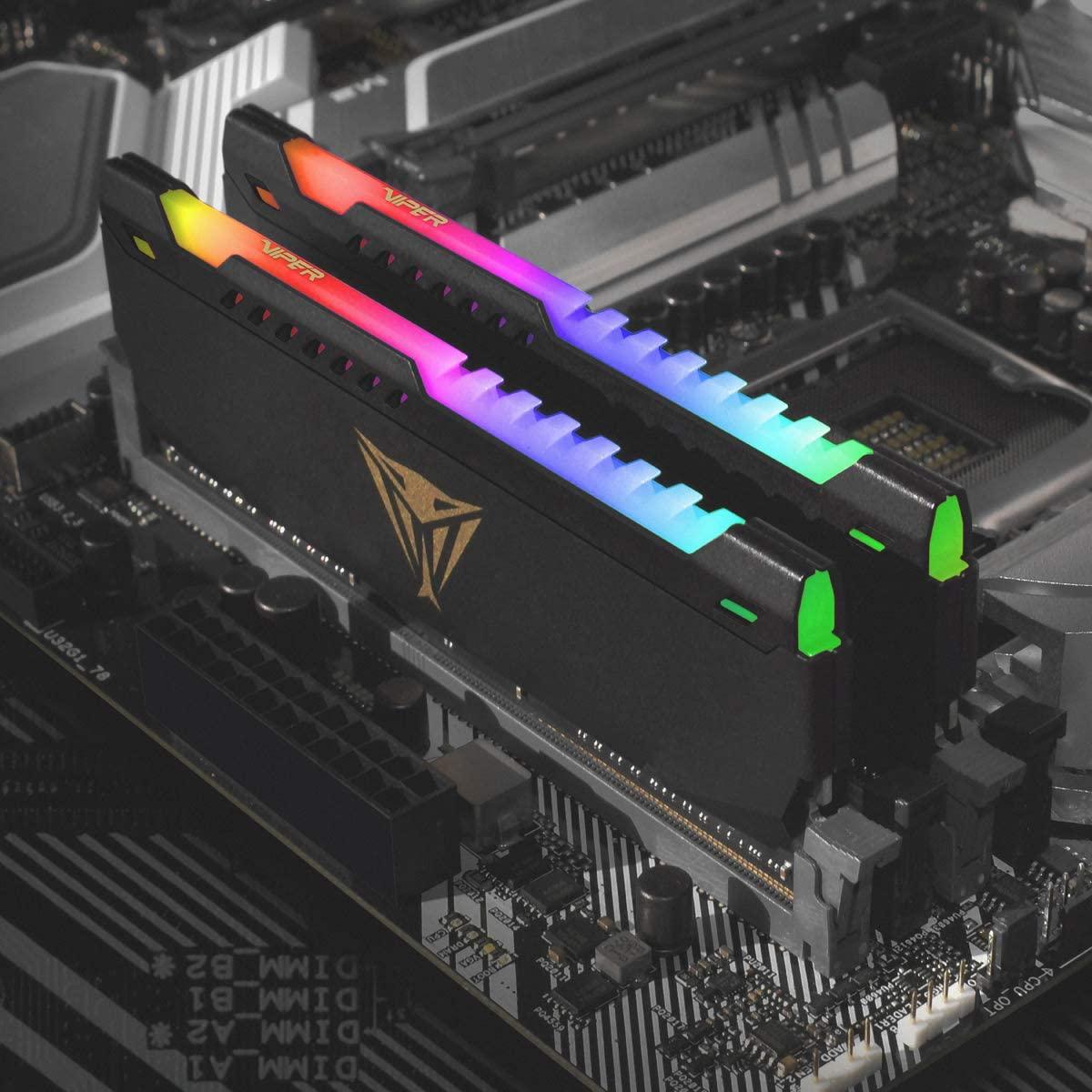 MEMÓRIA VIPER STEEL RGB 16GB DDR4 3200MHZ PVSR416G320C8 - PATRIOT