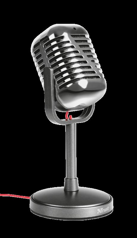 Microfone Elvii Vintage para PC e Laptop T21670 - Trust