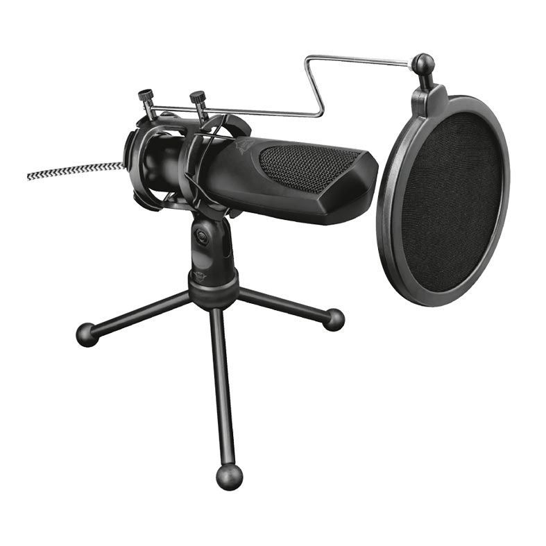 Microfone GXT 232 Mantis + Tripé T22656 - Trust