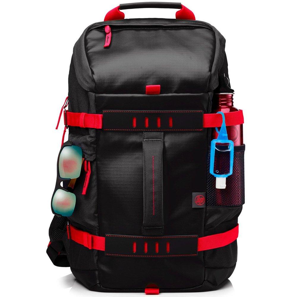 Mochila para notebook até 15.6 Preta e Vermelha X0R83AA - HP