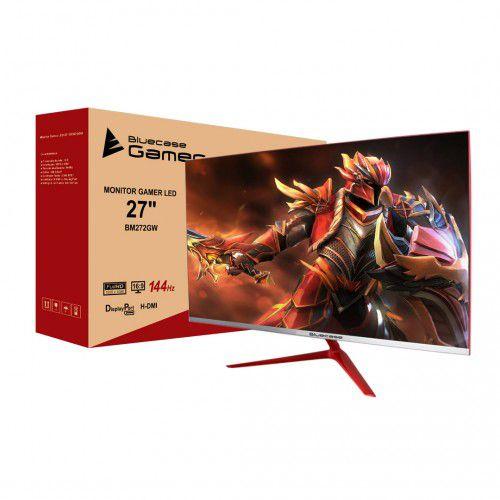 Monitor Gamer LED 27´ Widescreen, Full HD, HDMI/Display Port, FreeSync, 144Hz, 1ms BM272GW - Bluecase