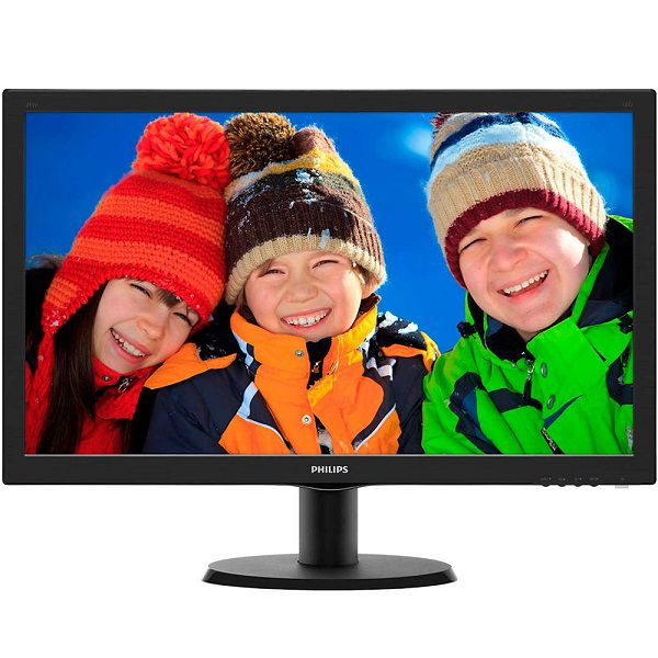 Monitor LCD Tela de 23.6 Full HD, 8ms, VGA/DVI/HDMI, SmartControl Lite 243V5QHABA - Philips