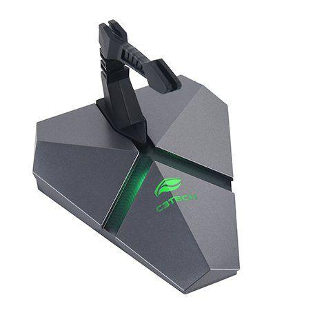 Mouse Bungee com HUB USB e Leitor Micro SD LED RGB MB-200SI - C3Tech