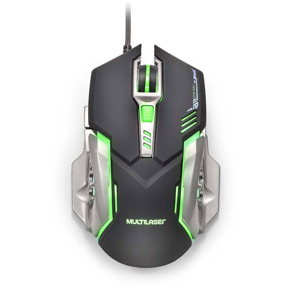 Mouse Gamer 2400DPI Preto e Grafite com LED MO269 - Multilaser