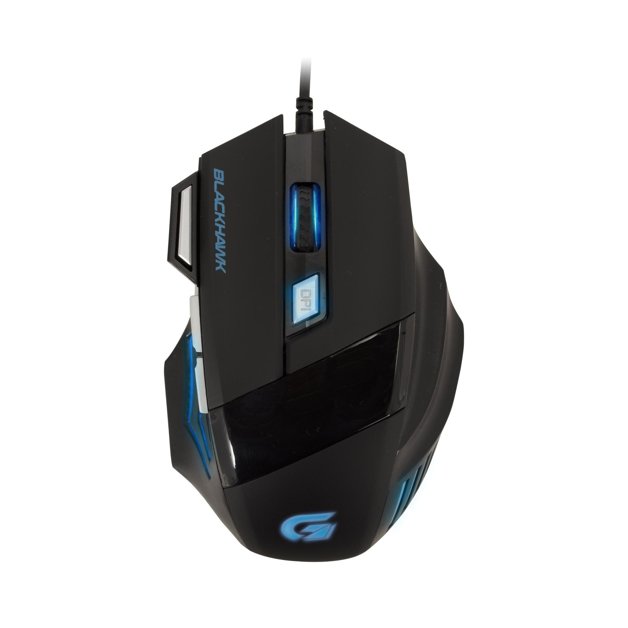 Mouse Gamer Black Hawk OM-703 Preto/Azul 52013 - Fortrek