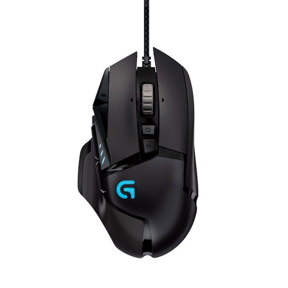 Mouse Gamer G502 Hero 16000 DPI RGB e Ajuste de Peso 910-005550 - Logitech