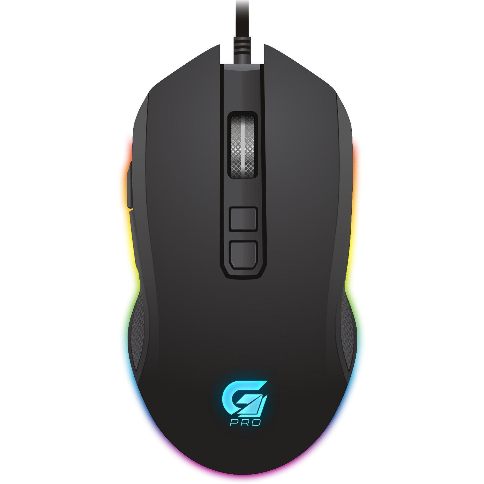 Mouse Gamer PRO M3 RGB 4800DPI Preto 64384 - Fortrek