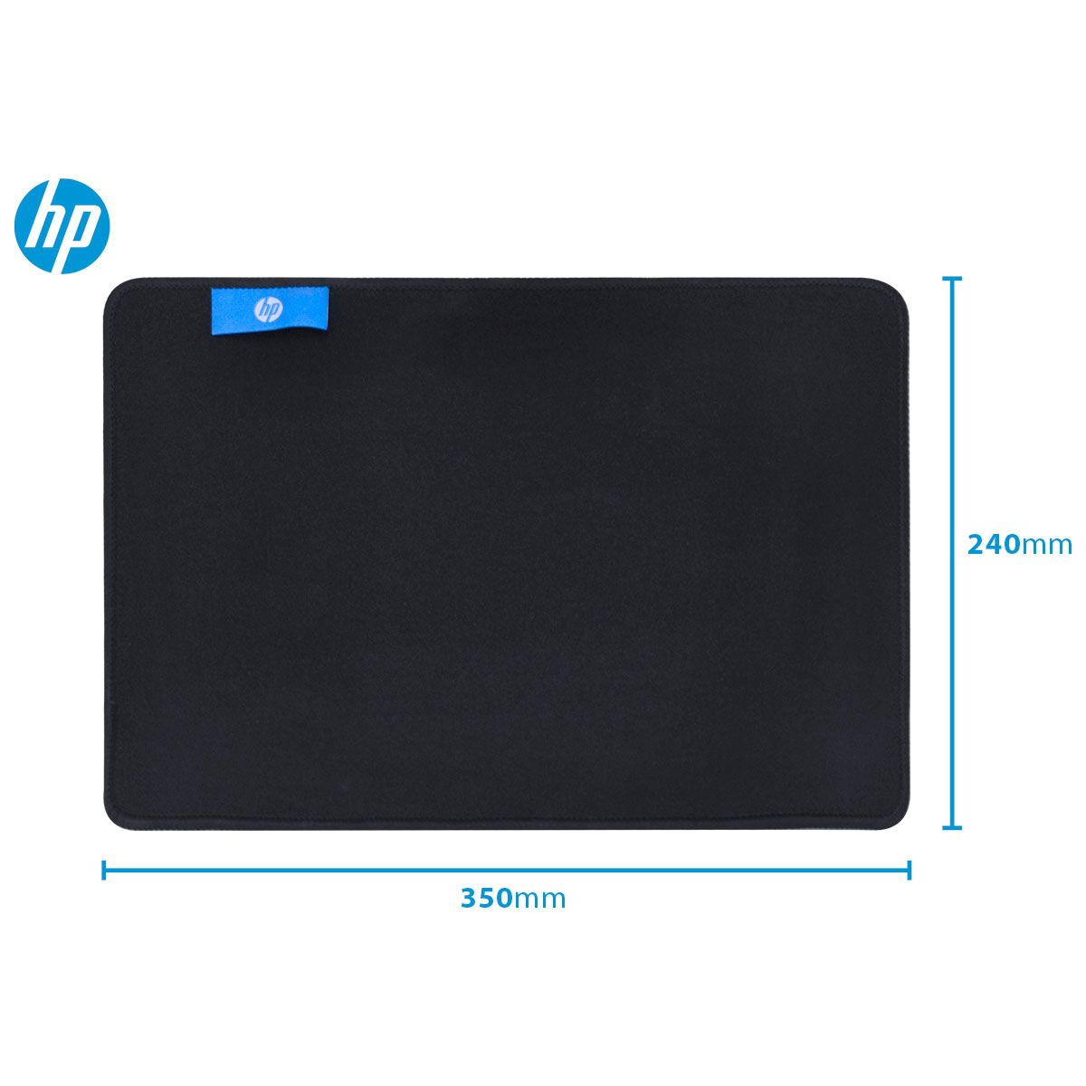 Mouse Pad Gamer MP3524 Preto Pequeno 350x240x4mm - HP
