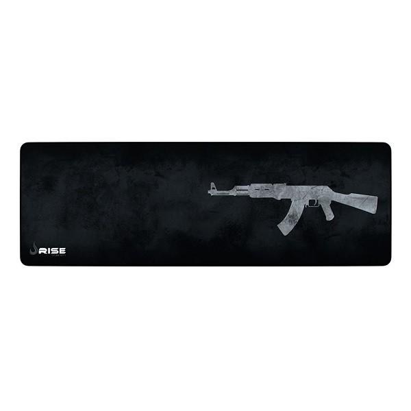 Mouse Pad Rise Gaming AK47 Extended em Fibertek Costurado RG-MP-06-AK - Rise Mode