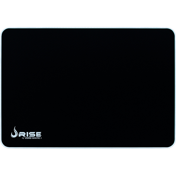 Mouse Pad Rise Gaming Grande Zero Branco em Fibertek Costurado RG-MP-05-ZW - Rise Mode