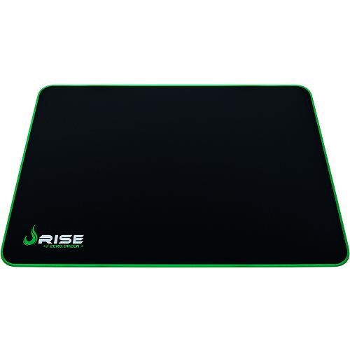 Mouse Pad Rise Gaming Grande Zero Verde em Fibertek Costurado RG-MP-05-ZG - Rise Mode