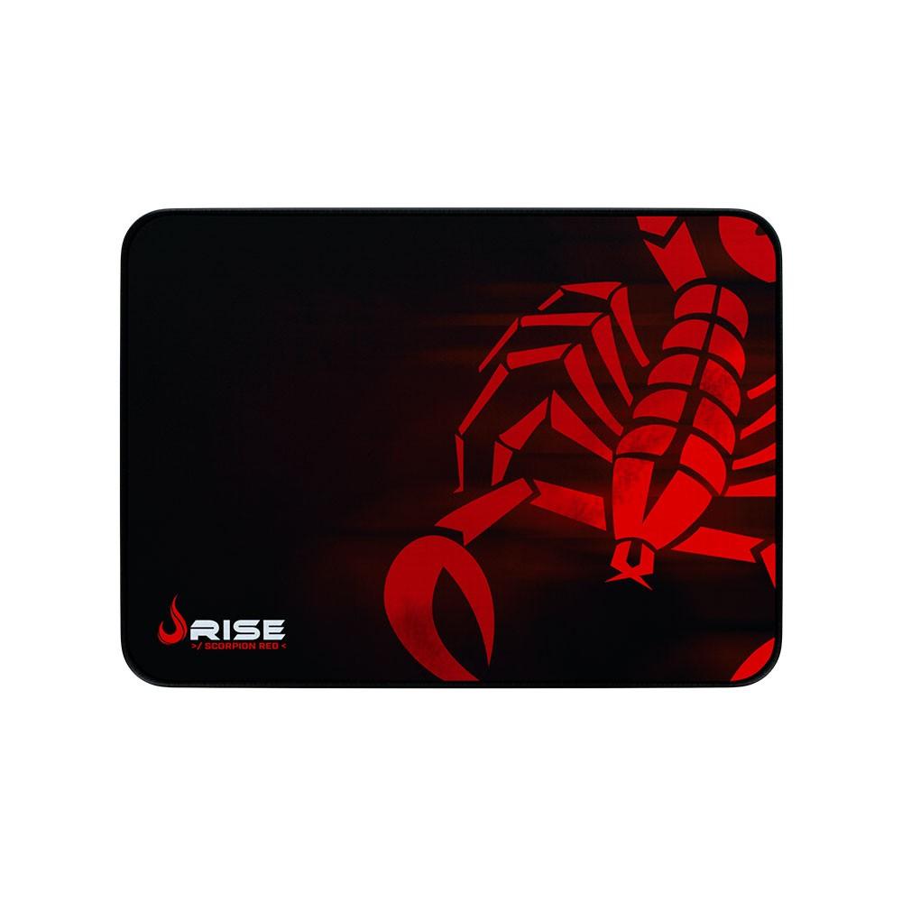 Mouse Pad Rise Gaming Scorpion Red Grande em Fibertek Costurado RG-MP-05-SR - Rise Mode