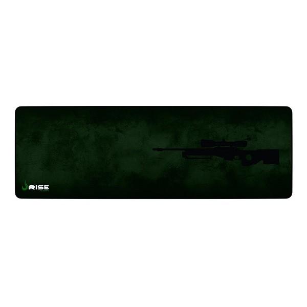 Mouse Pad Rise Gaming Sniper Extended em Fibertek Costurado RG-MP-06-SNP - Rise Mode