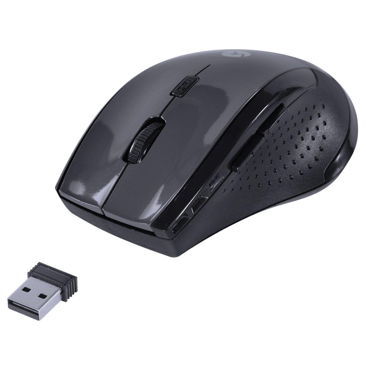 Mouse Sem Fio Híbrido 2.4Ghz + Bluetooth 4.0 1200 DPI Dynamic Ergo Space Gray USB DM122 28421 - Vinik