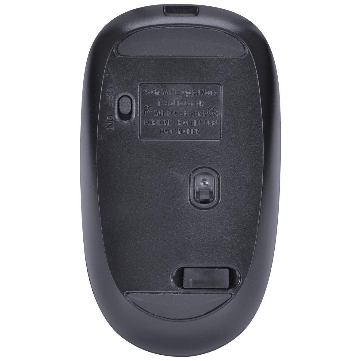 Mouse Sem Fio Recarregável Power One 1600DPI Receptor USB 29688 - Vinik