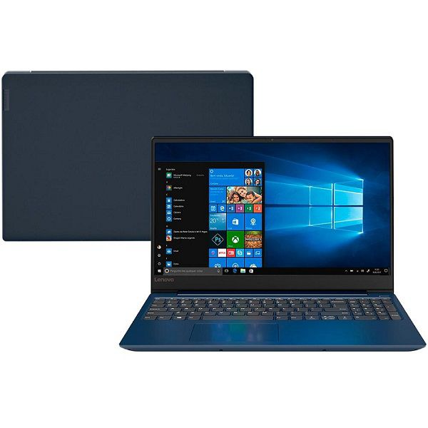 Notebook Ideapad 330s, Ryzen 5-2500U, 4GB, HD 1TB, 15., Windows 10 Home, Azul 81JQ0000BR - Lenovo