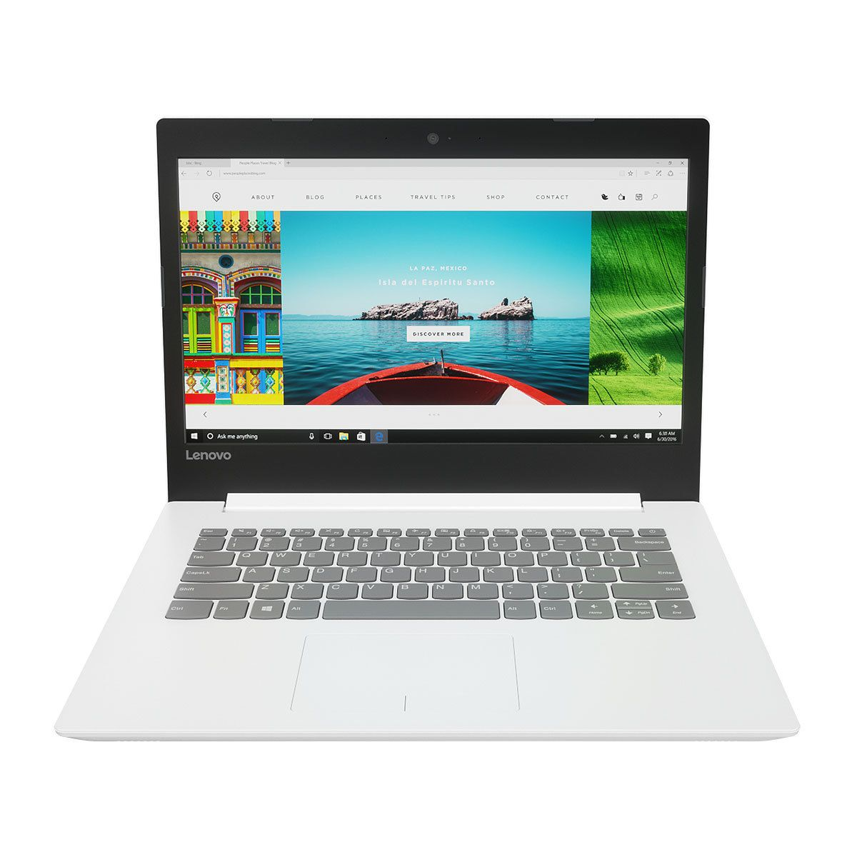 Notebook Intel Core i3 4GB 500GB Windows 10 Tela 14 Ideapad 320 80YF0008BR Branco - Lenovo