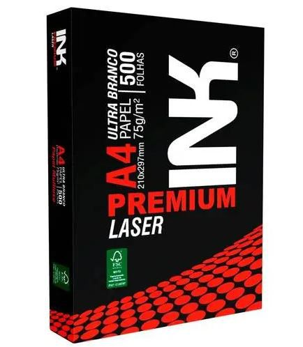 Papel Premium A4 500 Folhas Gramatura 75 210mm x 297mm - Ink
